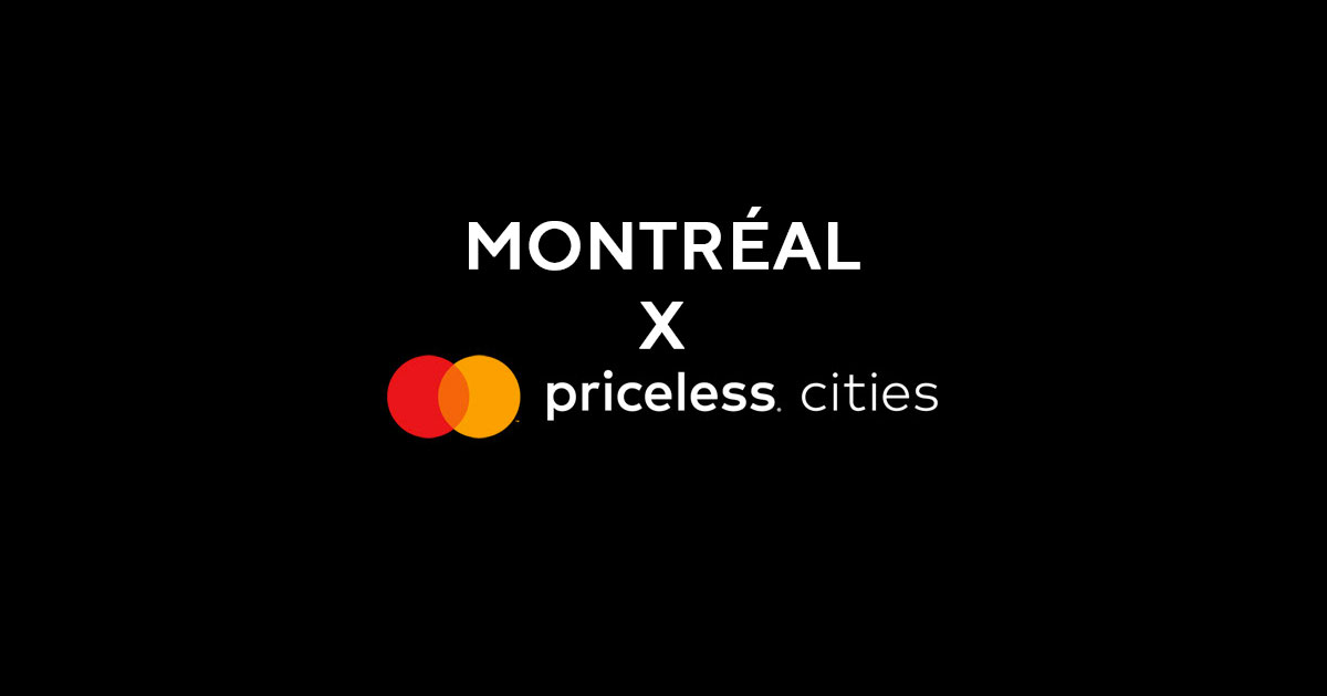 Montréal Priceless Cities Mastercard