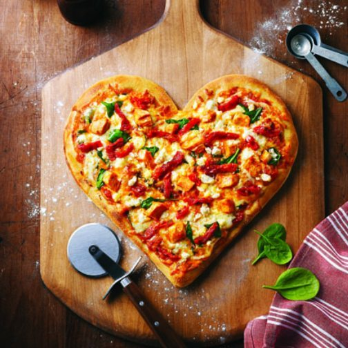 La Pizza en coeur de Boston Pizza pour la St-Valentin