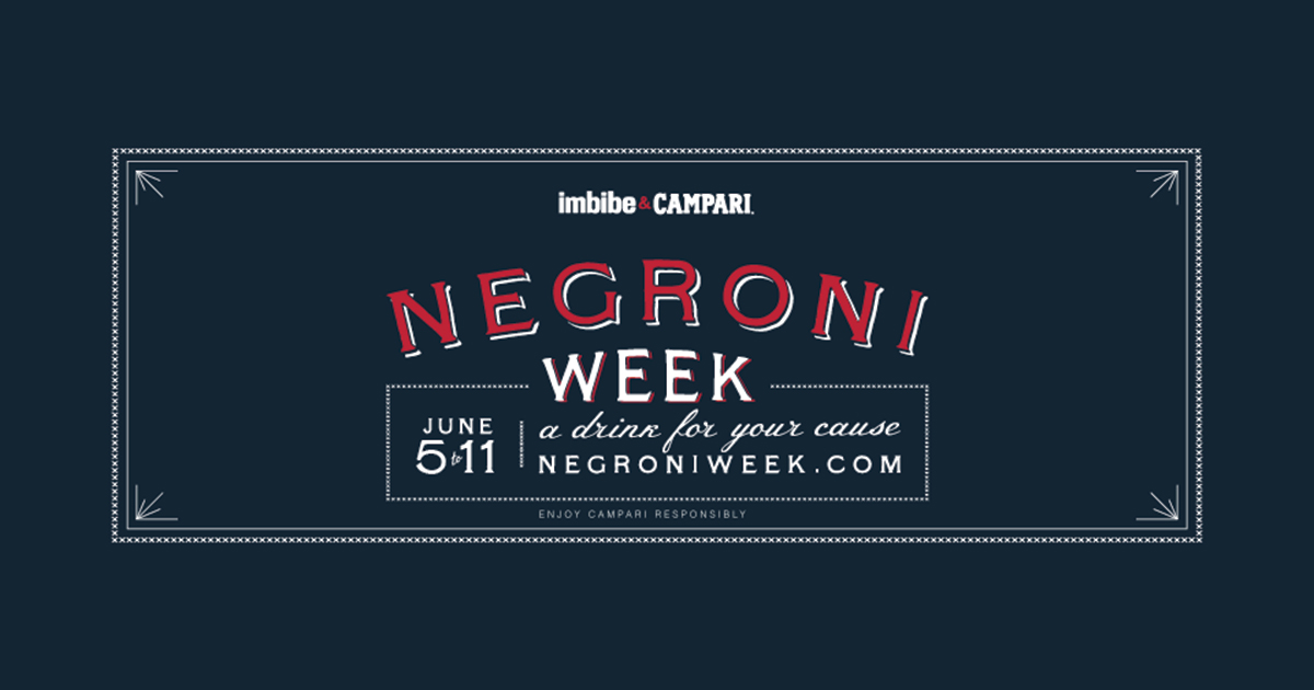 The 2017 Negroni Week from June 5 to 11