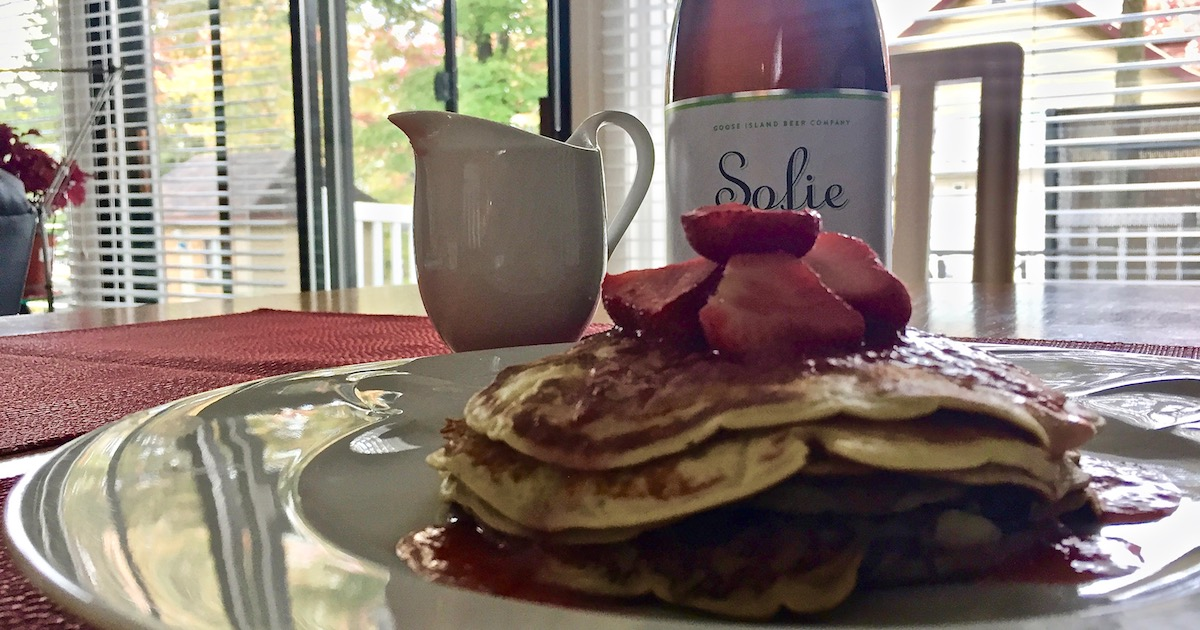 Beer pancakes recipe withGoose Island Sofie - Cover