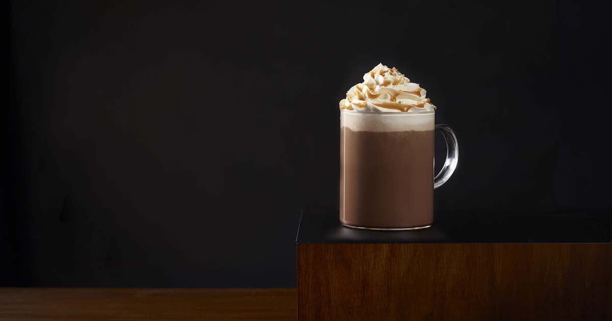 Salted Caramel Hot Chocolate - National Hot Cocoa day