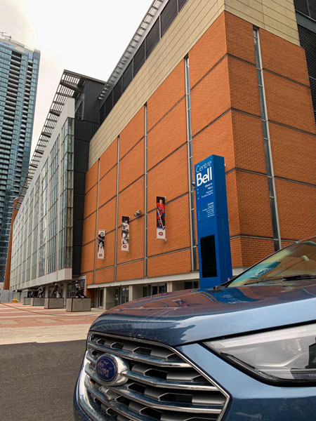 Ford Edge and the history of hockey in Montreal- Bell Centre - Centenial Place Credit: Normand Boulanger | RDPMAG