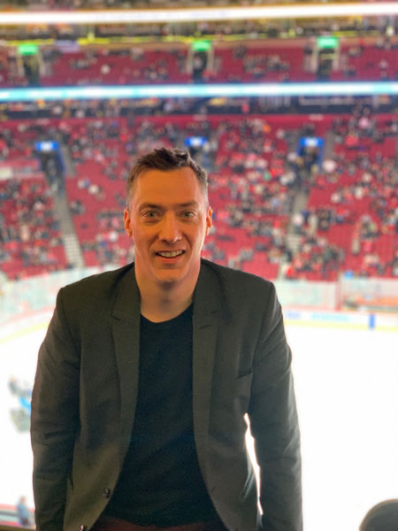 Ford Edge and the history of hockey in Montreal - Normand Boulanger (me) Credit: Tommy Dion
