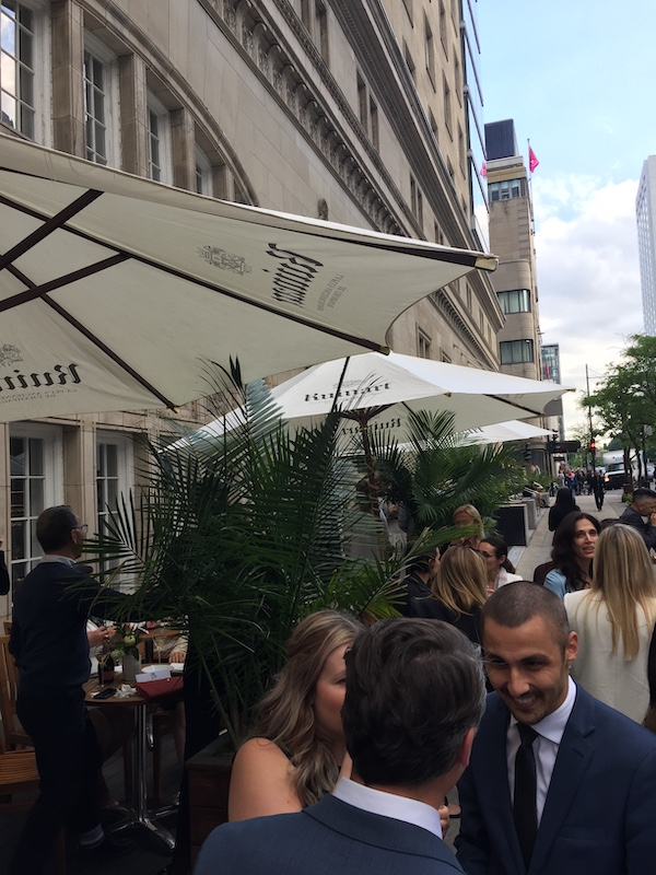 Ruinart Terrace at Maison Boulud - The Ritz-Carlton Montreal festivities - Credit: Normand Boulanger | RDPMAG