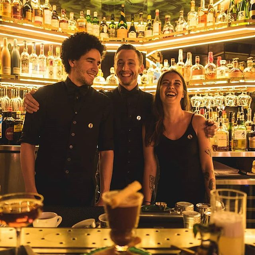 A part of the team of Bar le Royal- From Left to right: Lotfi Zachary Belgherbi, Manu Ruiz and Julie Lacasse Credit: Bar Le Royal